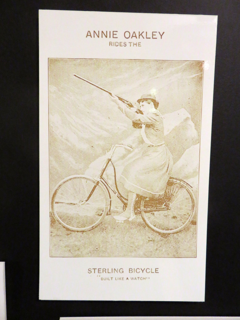 Kenosha History Center Annie Oakley on a Bike