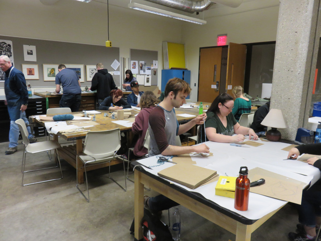University of Wisconsin at Parkside Printmaking Workshop with vi