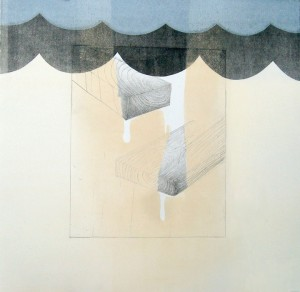 What has been done (period), 2011.  Etching, Monotype, Silkscreen, Ink Pencil.