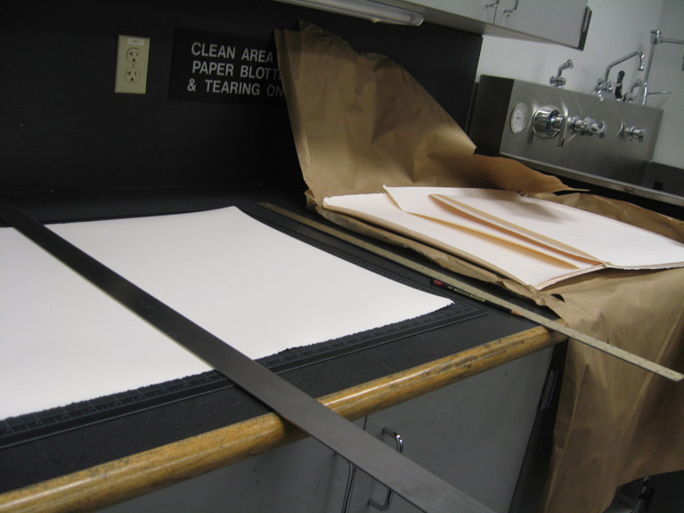Preparing the paper.