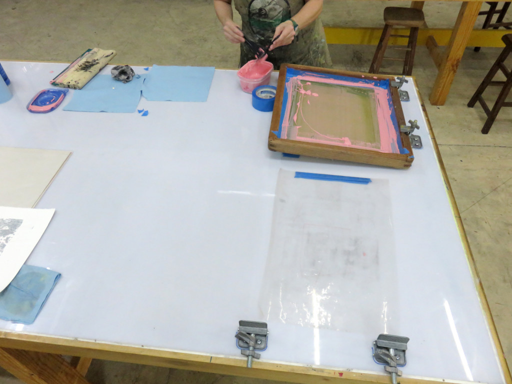 Screenprint clean-up at Turn-Based Press
