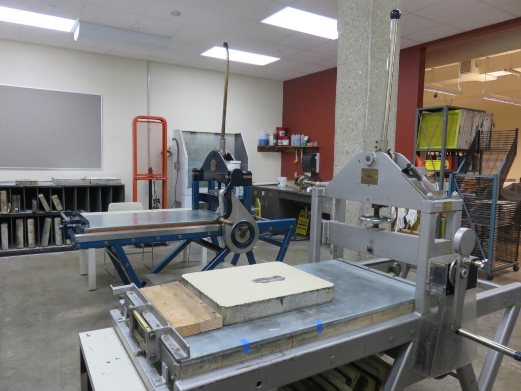 University of Wisconsin at Parkside printshop